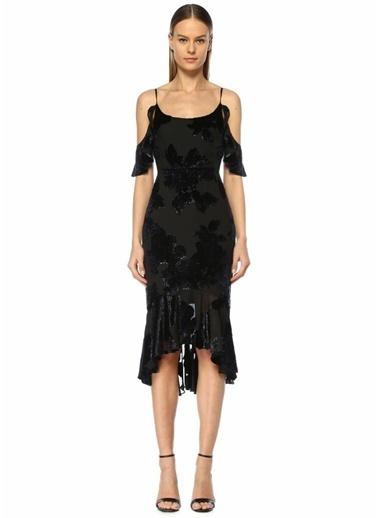 Marchesa Notte Kokteyl Elbise Siyah